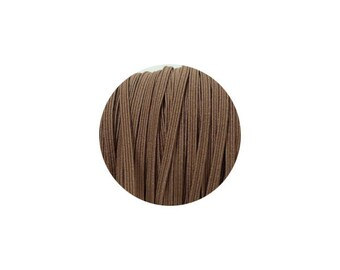 3mm Brown Skinny Headband Elastic - 5 Metres
