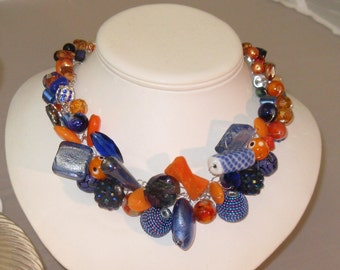 Chunky Statement Necklace - A Pop of Fun Statement Necklace Silver Wire
