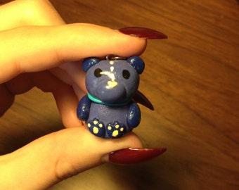 Polymer Clay Bear Plushie Pendant