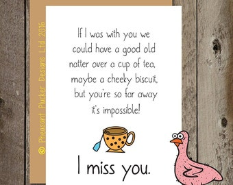 Cheeky Biscuit.. I miss you - Miss you Card