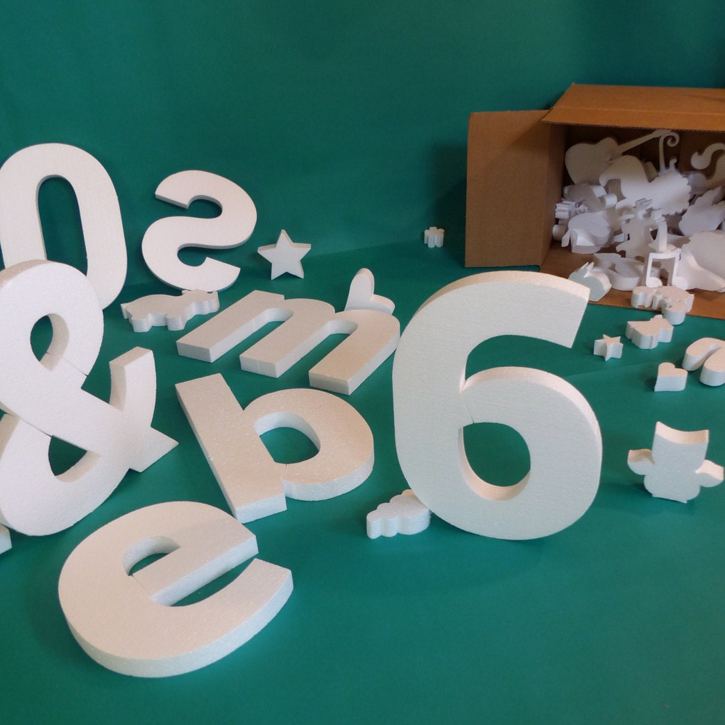 Diy 6 pack big foam letters numbers or symbols customize your for Giant foam letters diy