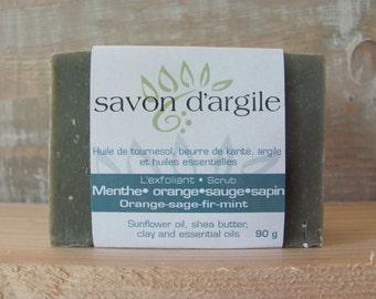 SOAP scrub the menthe•orange•sapin