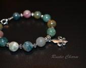 Fancy Jasper Fleur De Lis Bracelet