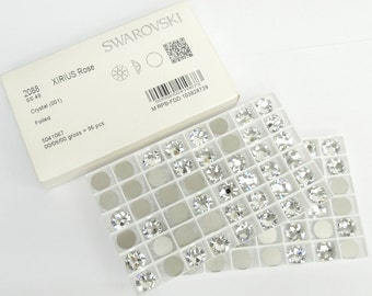 Swarovski 2088 Foiled Flatback ss48 11.11mm Clear 001 Crystal 96 pieces Nohotfix Crystals Xirius Rose Wholesale Genuine Sealed Factory Pack