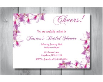 Bridal Shower Invitation -- Digital File