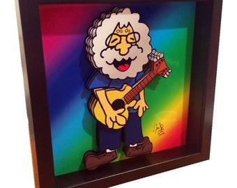 Grateful Dead Art Jerry Garcia Art The Grateful Dead Poster Art 3D Pop Art Print Artwork