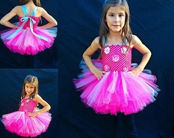 Pink Flower Tutu Dress