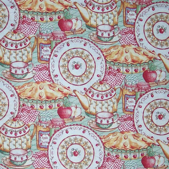 An Apple A Day Fabric Home Decor Quilt Or Craft From Lynnsdraperies On Etsy Studio