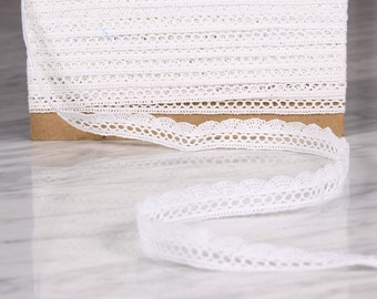 10 m tape 20mm, cotton, white (9864)