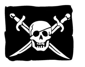 Jolly Roger # 10 - 8 x 10 - T Shirt Iron On Transfer