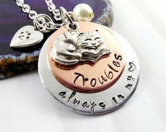 Cat Memorial Jewelry - Custom Cat necklace - Pet Loss Jewelry - Pet Necklace - Custom Pet Necklace - Cat Necklace - Pet Loss Necklace