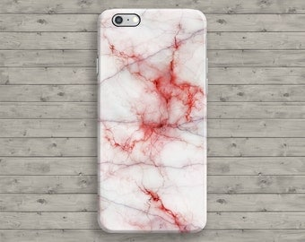 Marble iPhone 6 Case, Red iPhone 7 Case, White Marble iPhone 6S case, iPhone 7 Plus, iPhone 6S Plus, 4 4S 5 5S 5C SE Cool Granite Cover
