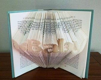 Custom Baby Gift, Baby Shower Decor, Book Folding Sculpture