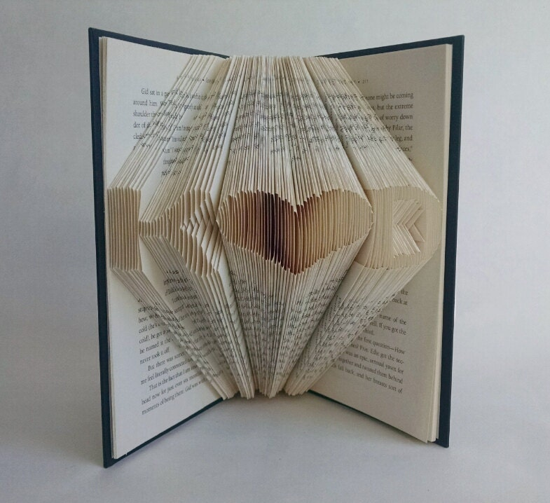 Monogrammed Wedding Gifts For Couple : Personalized Wedding Gifts For Couple Folded Book Art
