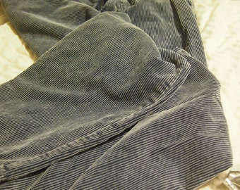 "90's blue corduroy pants size 34x30- men's- ""union color"""