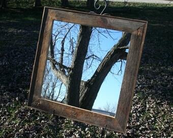 "Barn Wood Mirror - 20"" x 20"""