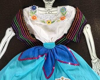 La Catrina de Guanajuato - articulated paper doll
