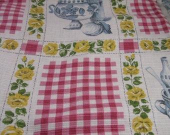 Vintage Table Cloth Cotton Viscose mix