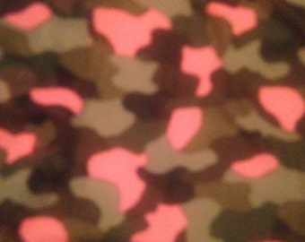 Camouflage polyester fabric