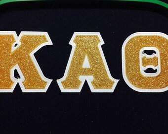Greek Glitter Letter Sweatshirt