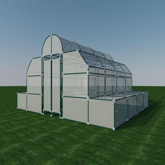 Build your own 18 39 x 20 39 pvc greenhouse diy plans for Build own greenhouse