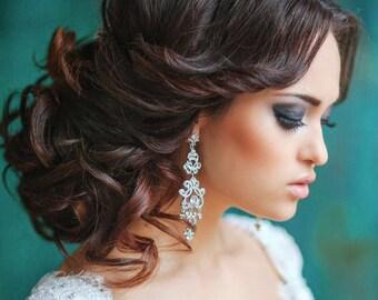 Vintage Bridal Earrings, Chandelier Earrings, Vintage Wedding Earrings, Chandelier Earrings Wedding,  Vintage Wedding Jewelry
