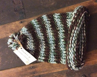 Hand Knitted Striped Toboggan