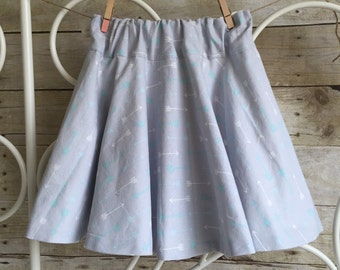 Dream Arrow Circle Skirt Handmade Skirt Twirly Skirt Twirl