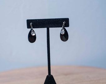 Divas Onyx & Swarovski Crystals Earrings