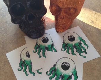 Tentacle Eyeball Stickers!