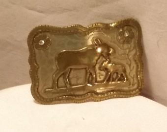 Western belt buckle, cowboy, wildlife. rodeo style Harry Bentz