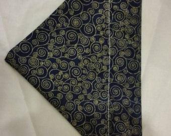 SALE: Blue swirl dog bandana