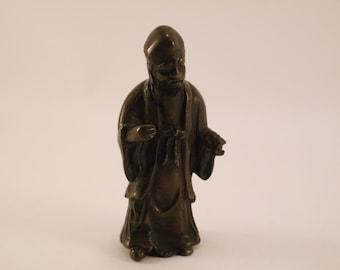 XIXth century Fukurokuju bronze statuette Japan