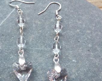 Swarovski Wildheart Drop Earrings - Sterling Silver, Swarovski Wildheart, Bridal Earrings, Wedding Earrings, Bridesmaid Earrings,