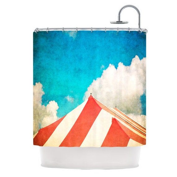 Carnival Shower Curtain Big Top Tent Whimsical Shower
