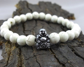 Bracelet Buddha and Color Howlithperlen