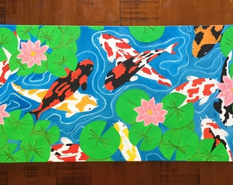 Koi Pond Oil Painting