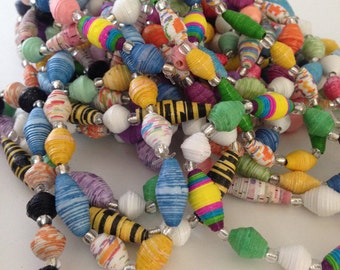 Paper Bead Bracelets - Set of Three