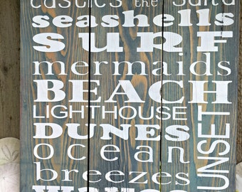Beach House Sign - Beach Subway Art - Coastal Sign - Nautical Sign - Beach Decor - Beach Wall Art - Beach House - Beach House Decor