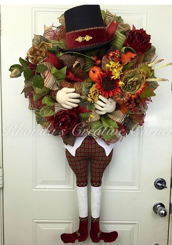 Thanksgiving Deco Mesh Wreath Fall Wreath Fall Deco Mesh