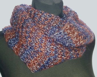 soft and warm snood,neck warmer,handmade accessory,knitted winter accessory,woolen scarf