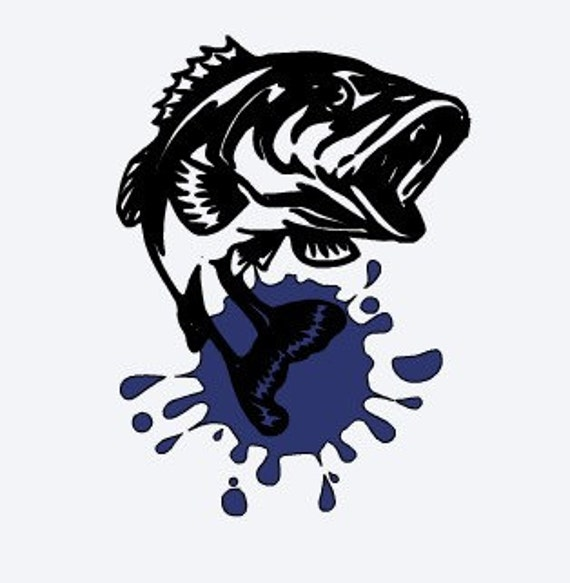 Items similar to fish decal hunting and fishing decal on etsy for Hunting and fishing decals