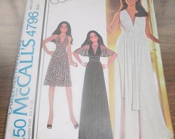 FIVE McCall's Vintage Sewing Patterns, Dress Patterns, Pantsuit Patterns, Size 14 Bust 36