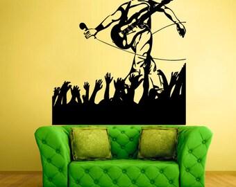 music wall decals teens singer wall art concert wall art concert wall decor music wall art music wall art decor (Z516)