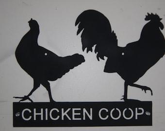 CHICKEN COOP  metal sign