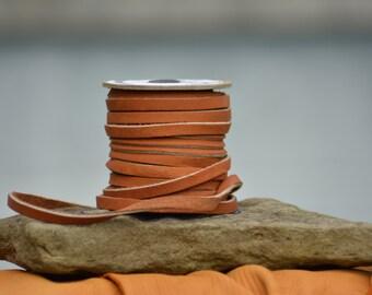 Cowhide lace 1/4inx25ft spool tan