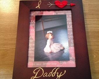I Love Daddy photo frame