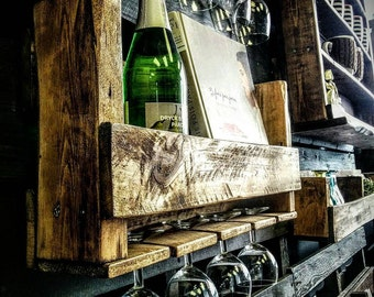 """Support for wine bottles and cut 22 """"x10.5""""x4.5"""""""