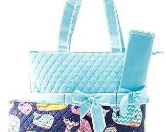 Whale Print Diaper Bag