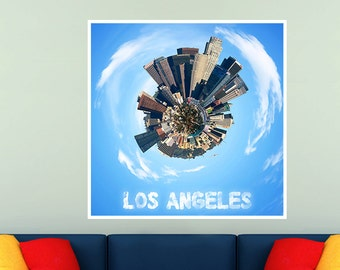 Los Angeles City Planets Poster Print
